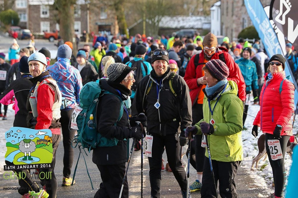 Trail runners gather in Askham as part of the Grand Day Out. Photo: James Kirby