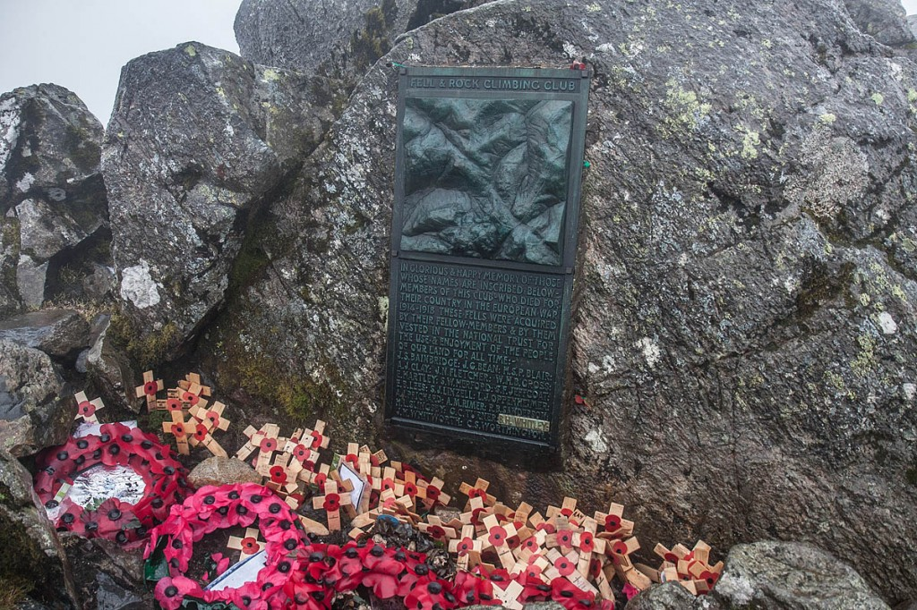 The memorial on the summit of Great Gable. Photo: Bob Smith/grough
