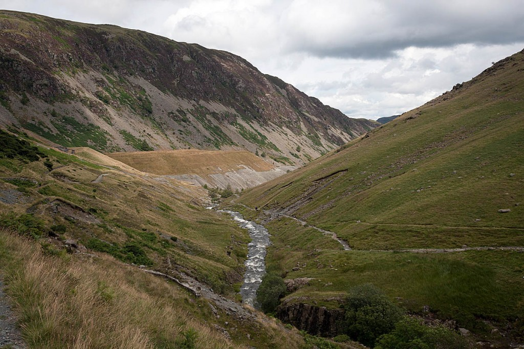 The sheep was stuck in a ravine above Greenside, Glenridding. Photo: Bob Smith/grough