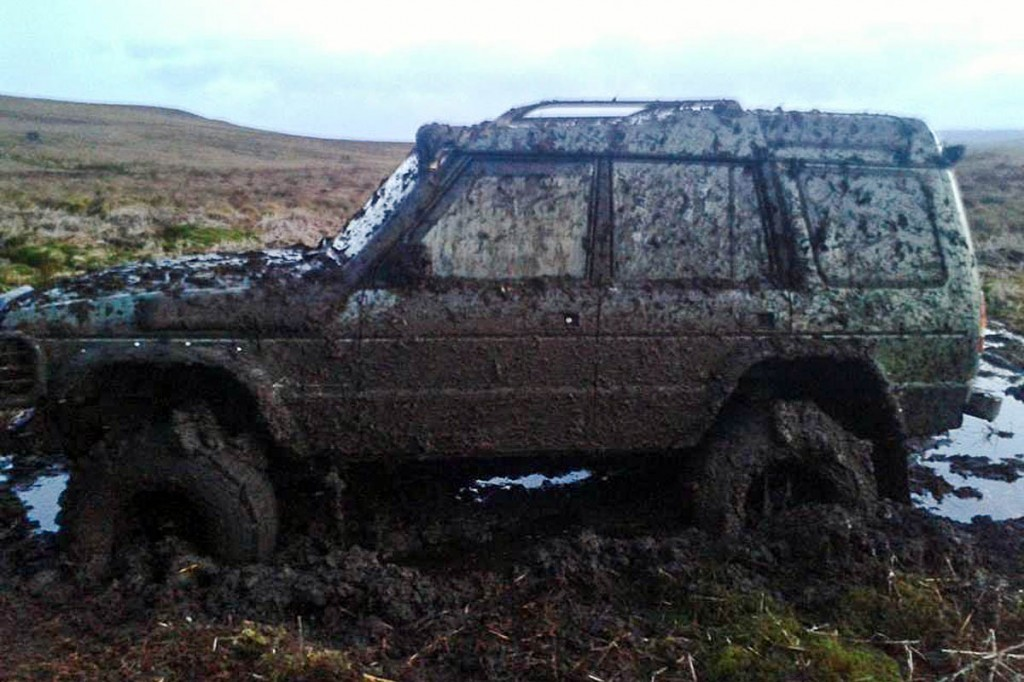 One of the stranded vehicles. Photo: Bowland Pennine Mountain Rescue Team