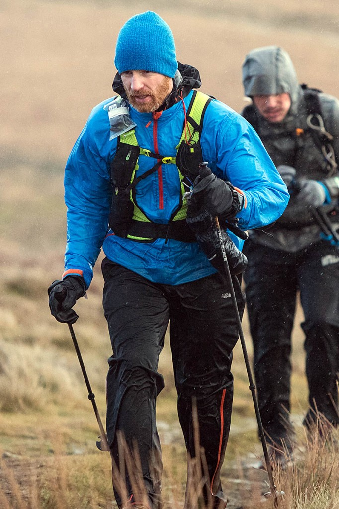 Gwynn Stokes in action during the 2019 Spine Race. Photo: Bob Smith/grough