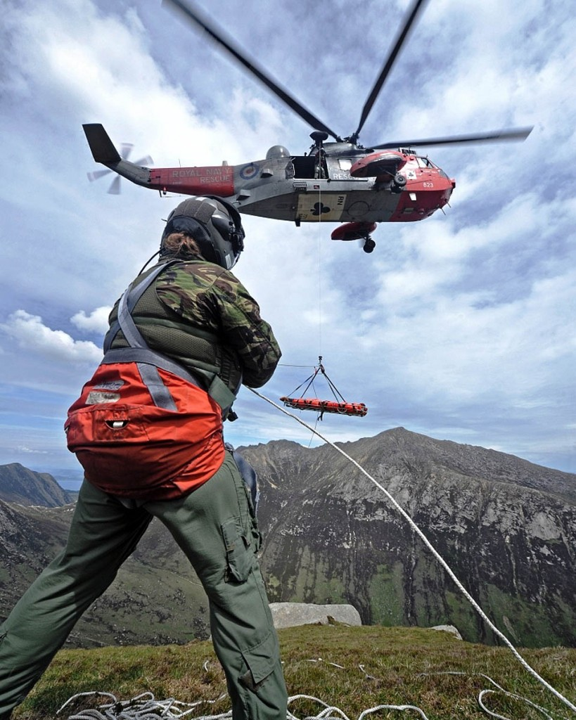 The HMS Gannet crews have carried out numerous rescues in the UK's mountains. Photo: Royal Navy