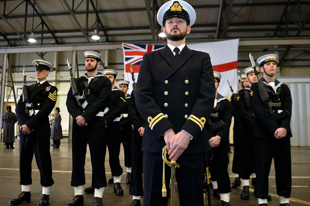 Royal Navy personnel at the decommissioning