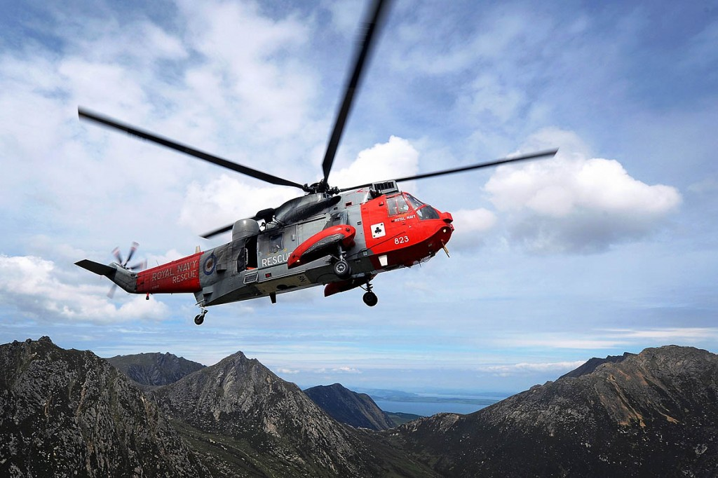 The red and grey Sea Kings were a welcome sight to those in distress on the mountains of Britain