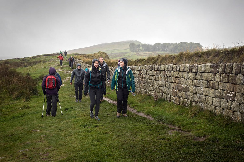 A walk alongside Hadrian's Wall in very autumnal weather provided a good test of the Montane jacket's properties. Photo: Bob Smith/grough