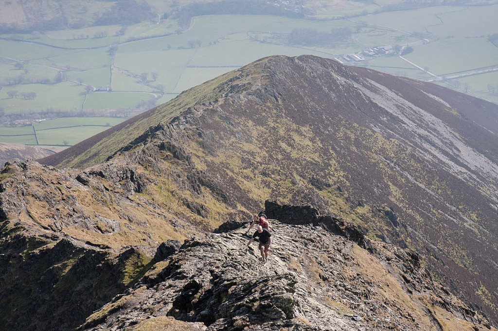 The woman got stuck on Hall's Fell Ridge, Blencathra. Photo: Bob Smith/grough