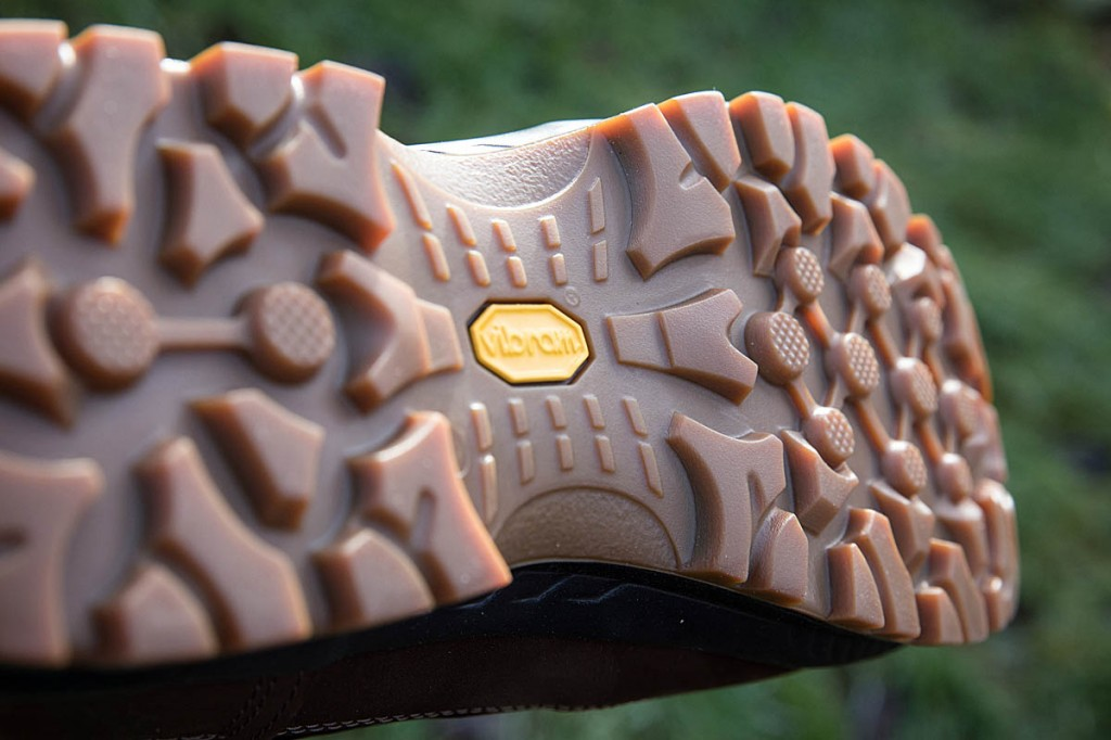 The Hanwag boot's caramel-coloured outsole. Photo: Bob Smith/grough