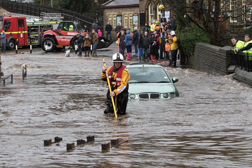 Parts of Haworth, West Yorkshire, were flooded