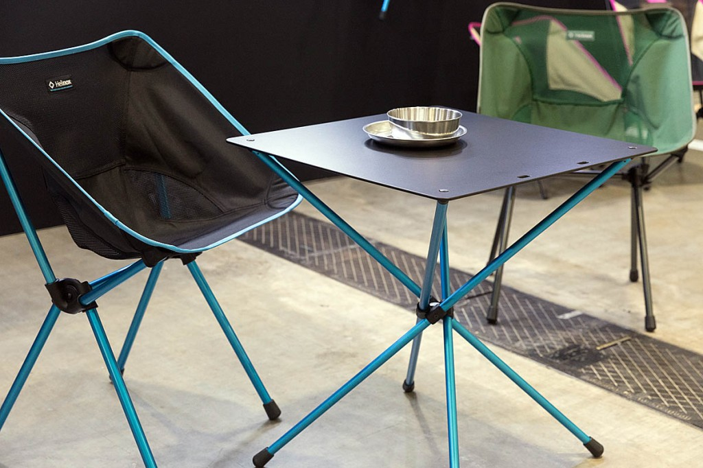 The Helinox Cafe Chair and Cafe Table. Photo: Bob Smith/grough