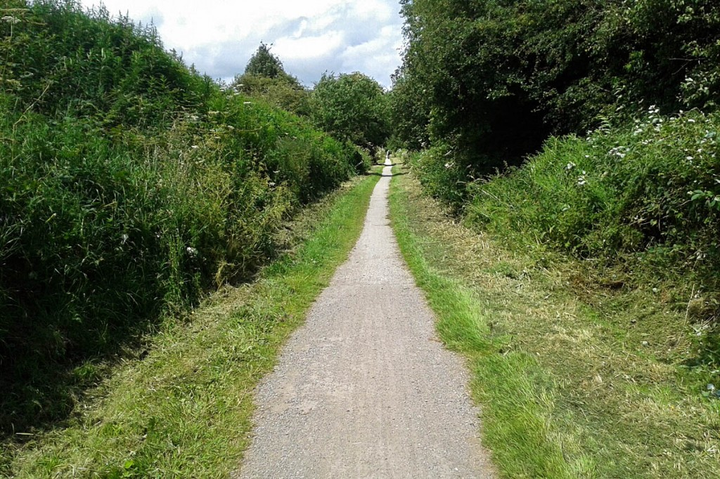 A section of the High Peak Trail that will be widened
