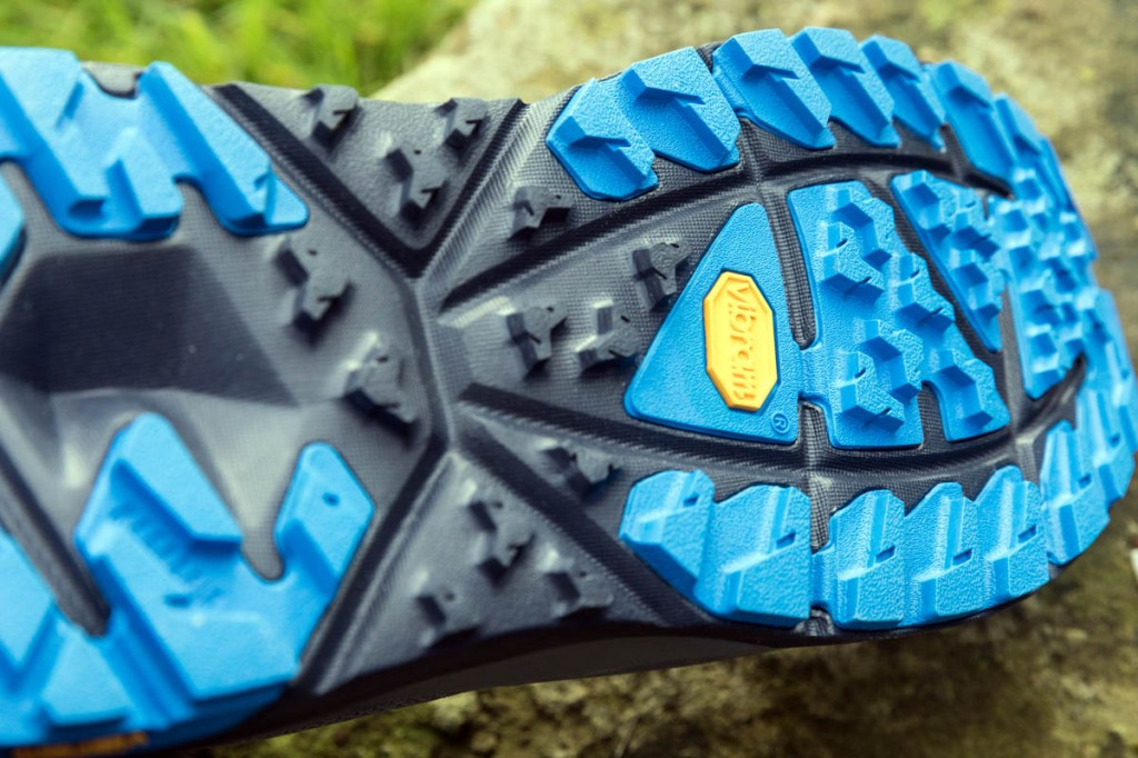 The Sky Kaha's colourful outsole. Photo: Bob Smith/grough