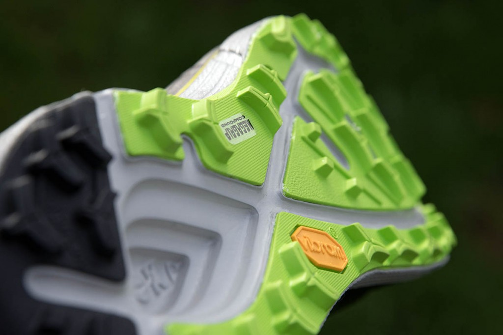The outsole uses Vibram's Megagrip compound. Photo: Bob Smith/grough