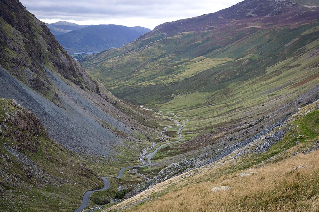 The cyclist crashed while descending the Honister Pass. Photo: Bob Smith/grough