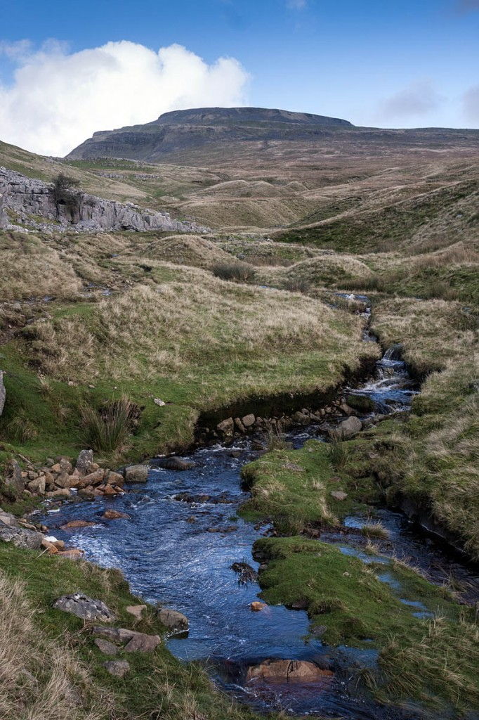 The walker was stretchered from the summit of Ingleborough. Photo: Bob Smith/grough
