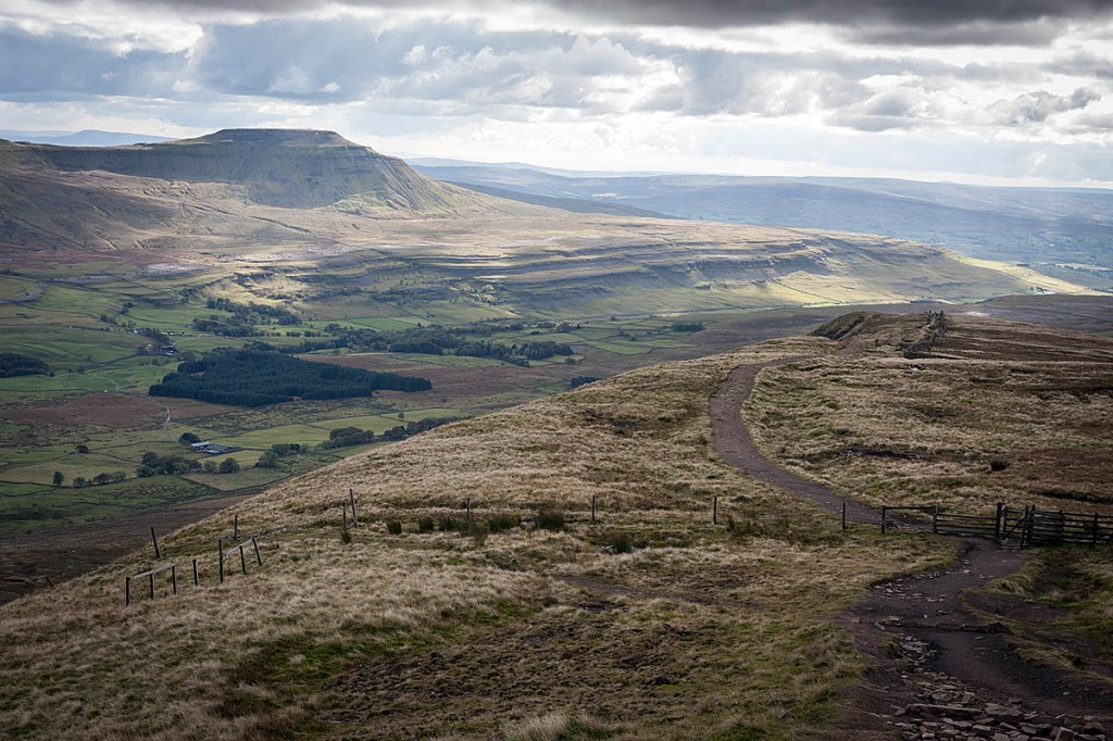 The incident happened where the Whernside summit path turns towards Bruntscar. Photo: Bob Smith/grough