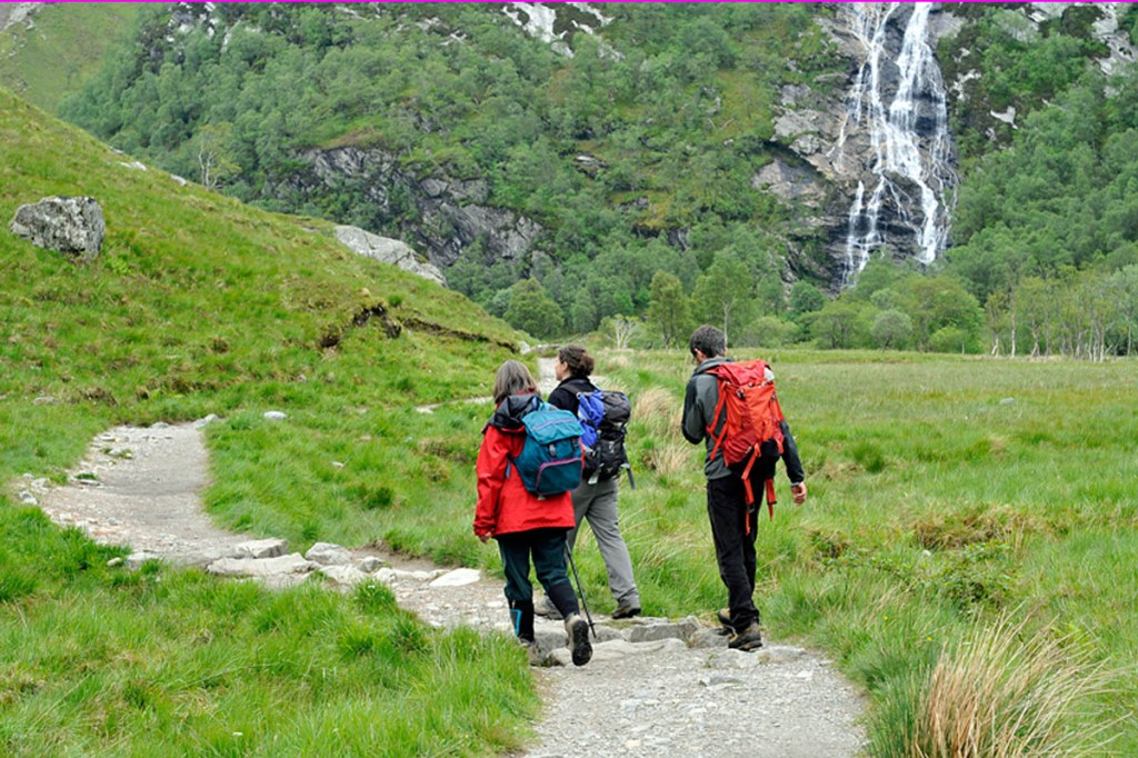 The path is popular with walkers and mountaineers heading past the Steall Falls. Photo: John Muir Trust