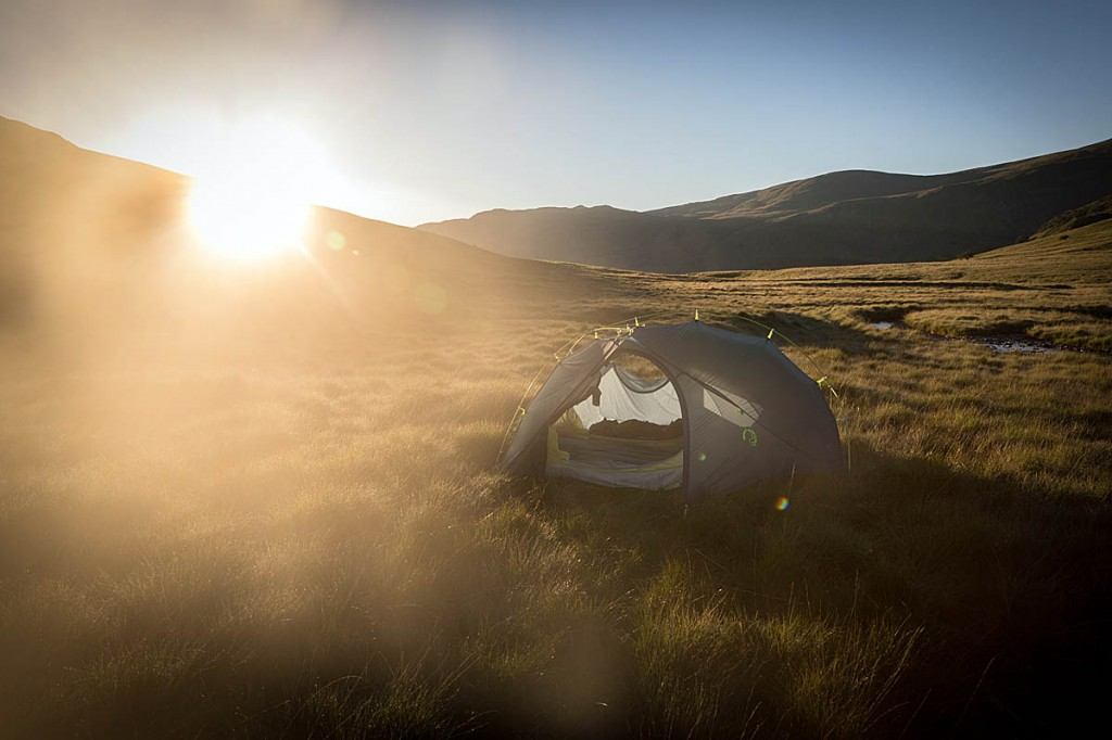 The tents were all tested on wild camps in the Lake District. Photo: Bob Smith/grough