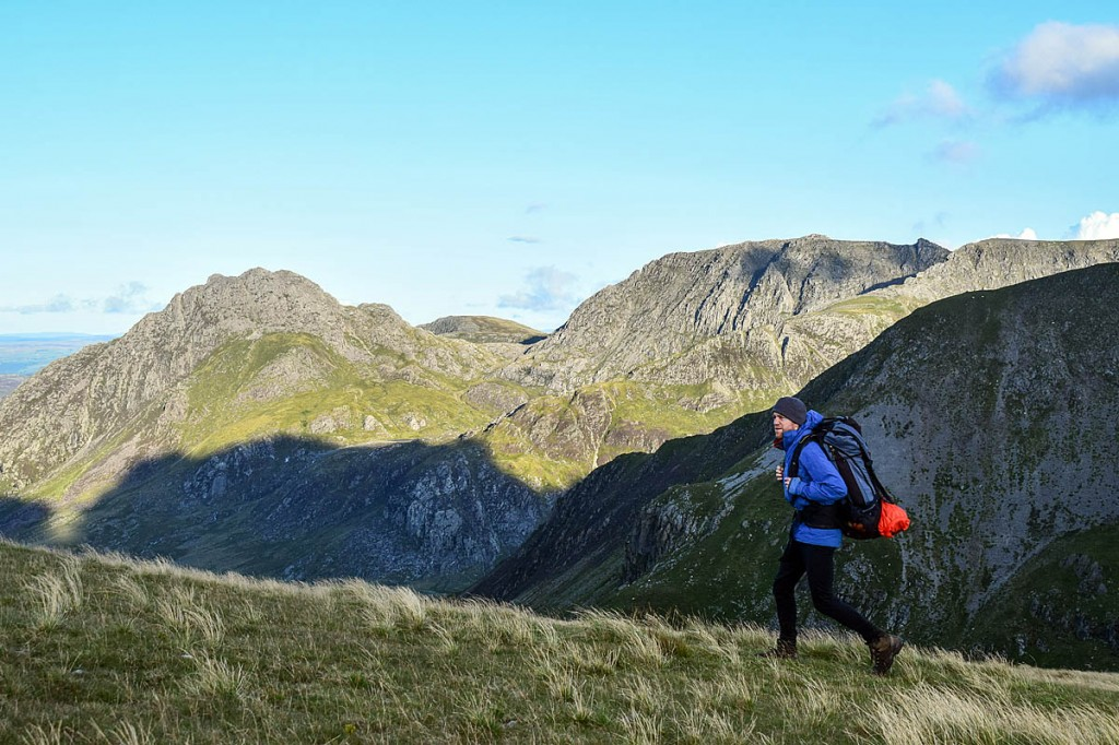 James Forrest walks on the Glyderau in Snowdonia