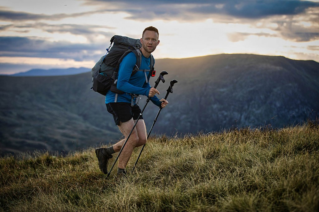 James Forrest in action during his unsupported round of the Wainwrights. Photo: www.inov-8.com/Dave MacFarlane