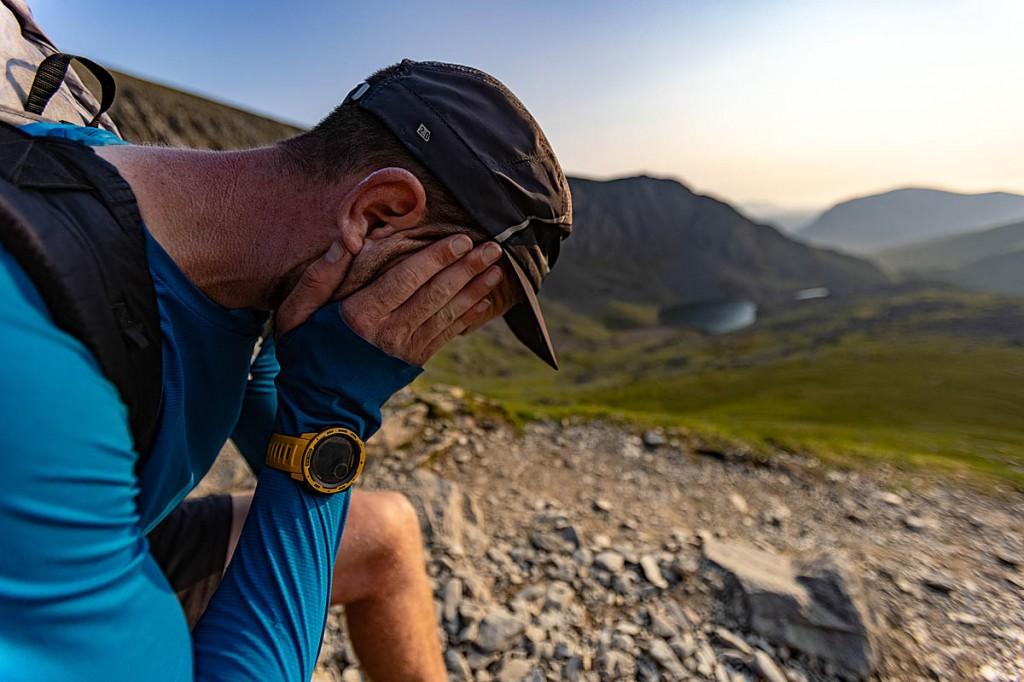 Forrest struggled with sunstroke on the ascent of Yr Wyddfa-Snowdon. Photo: inov-8.com/Dave MacFarlane