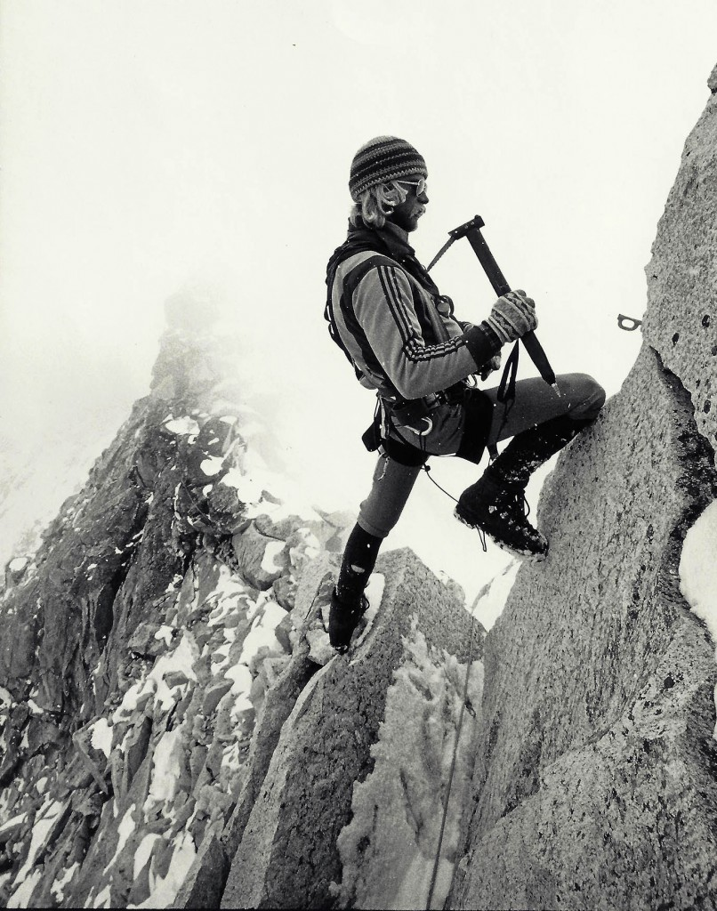 Jeff Lowe climbing on Ama Dablam in 1979. Photo: Tom Frost