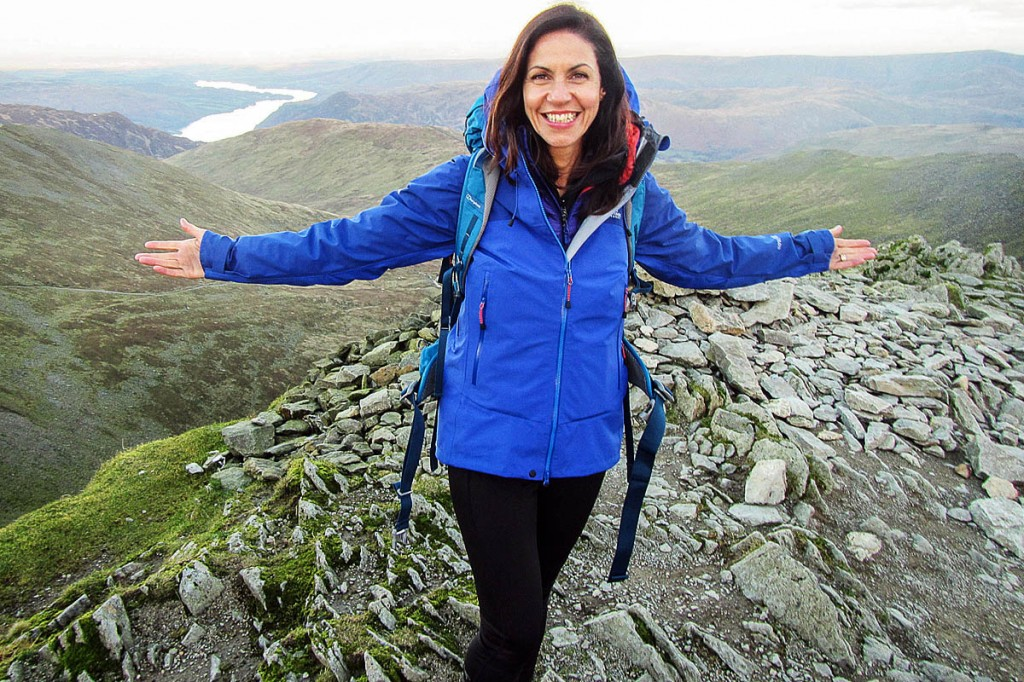 Julia Bradbury was featured on Helvellyn in television programme