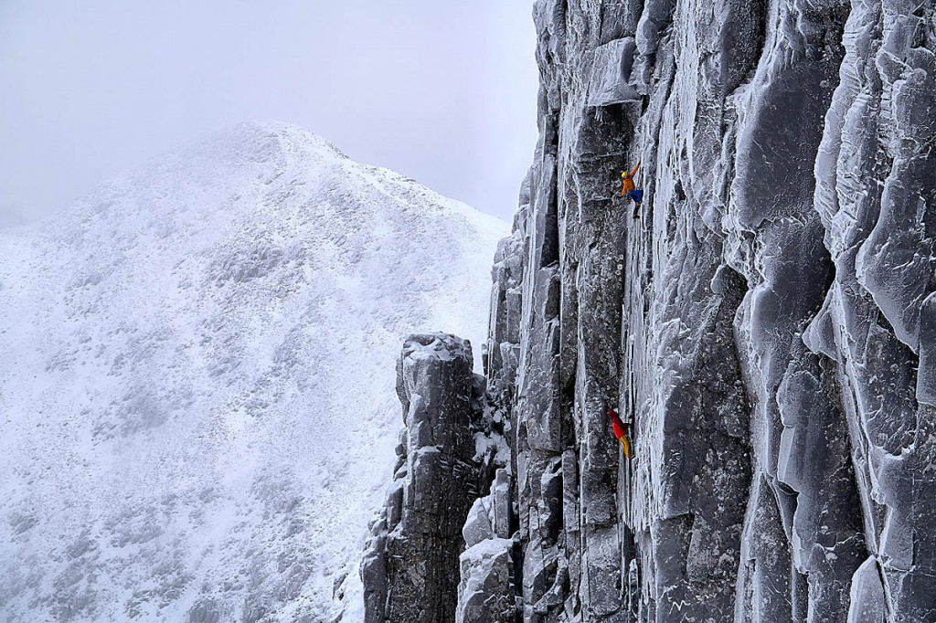 The winning shot of the Bidean nam Bian climb in the adventure category. Photo: Hamish Frost