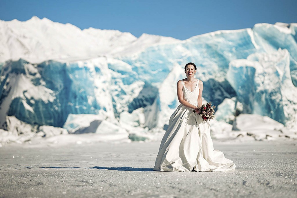 Paula enjoyed a sub-zero wedding. Photo: Mizzi Taner