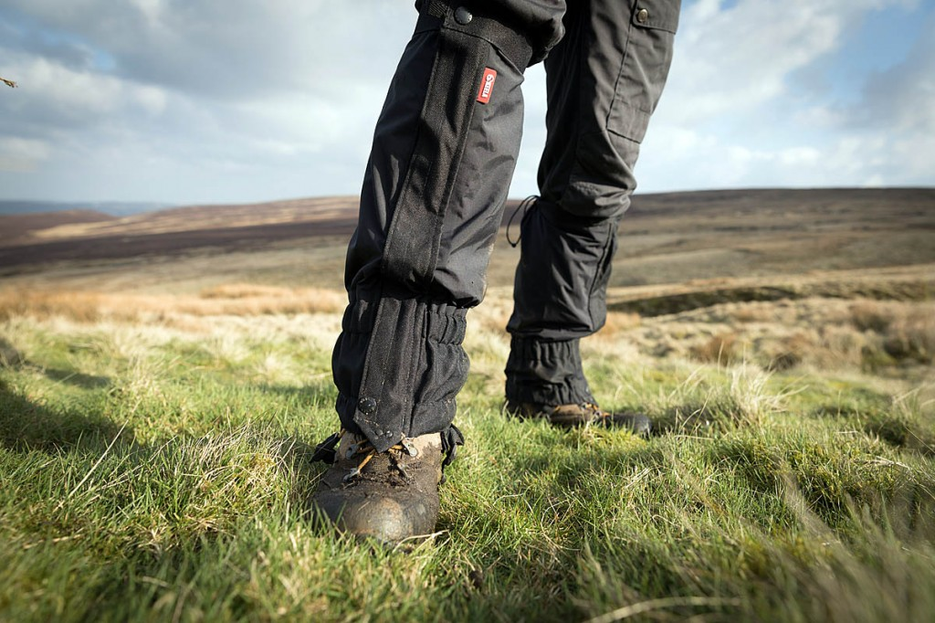 The gaiters are at home on muddy moorland too. Photo: Bob Smith/grough