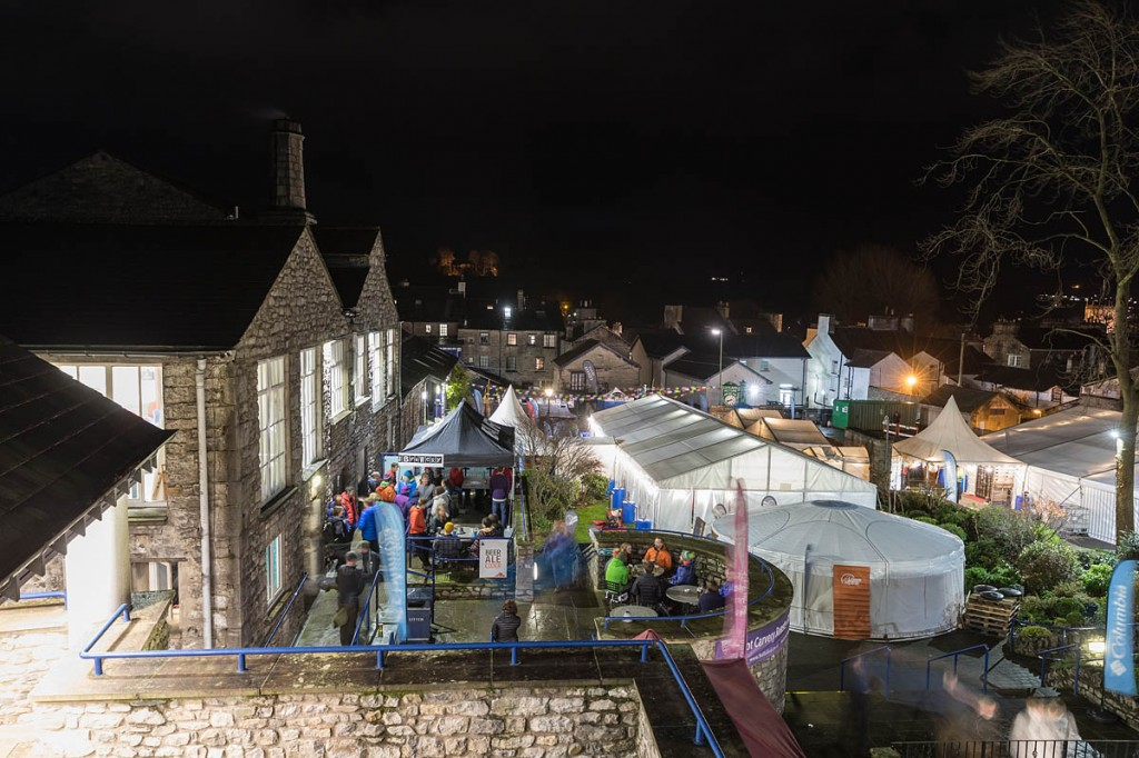 The main Kendal Mountain Festival site. Photo: Bob Smith/grough