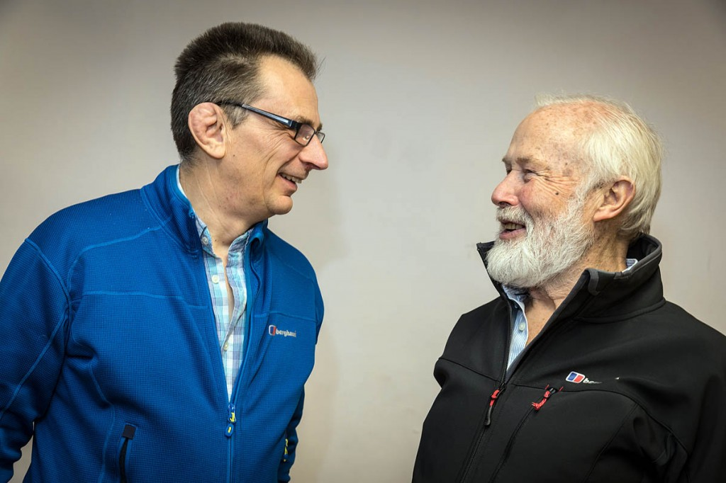 Sir Chris Bonington with film-maker Keith Partridge, left. Photo: Bob Smith/grough