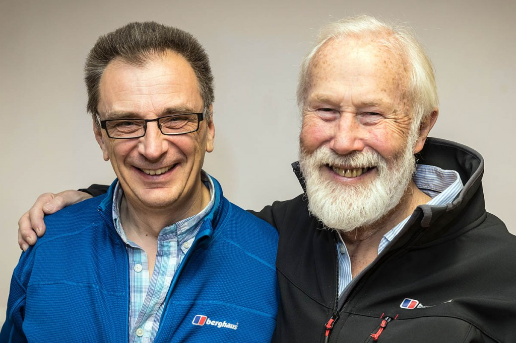 Film-maker Keith Partridge with Sir Chris Bonington. Photo: Bob Smith/grough