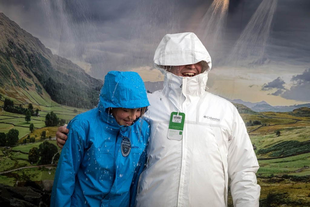 It never rains but it pours: visitors put the Columbia jackets to the test. Photo: Bob Smith/grough
