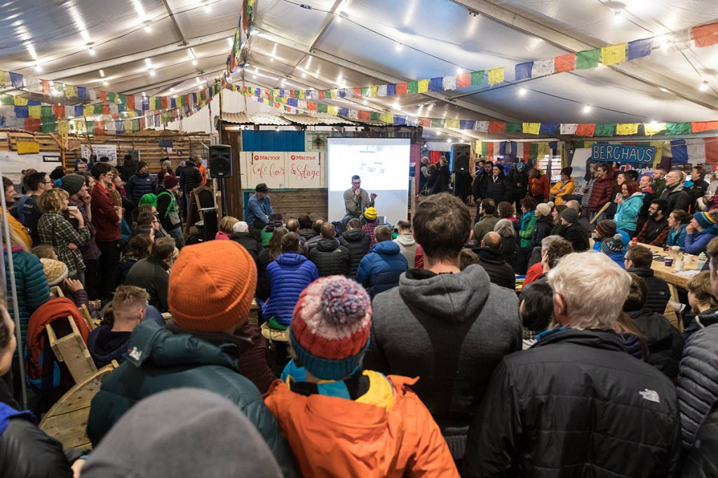 Niall Grimes entertains in the Basecamp Village marquee last year. Photo: Bob Smith/grough