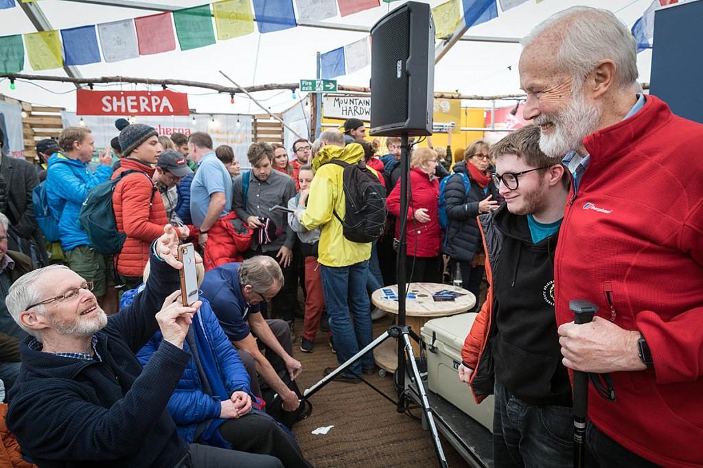 Sir Chris Bonington meets festival-goers at the 2019 event. Photo: Bob Smith/grough