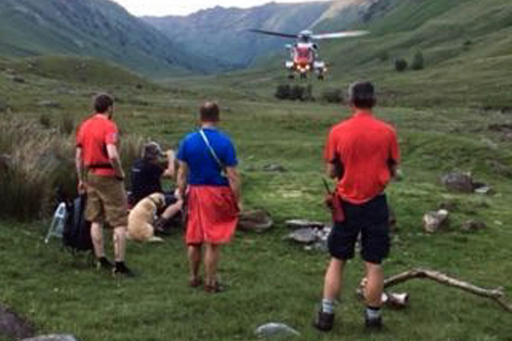 The scene of the rescue in Langstrath. Photo: Keswick MRT