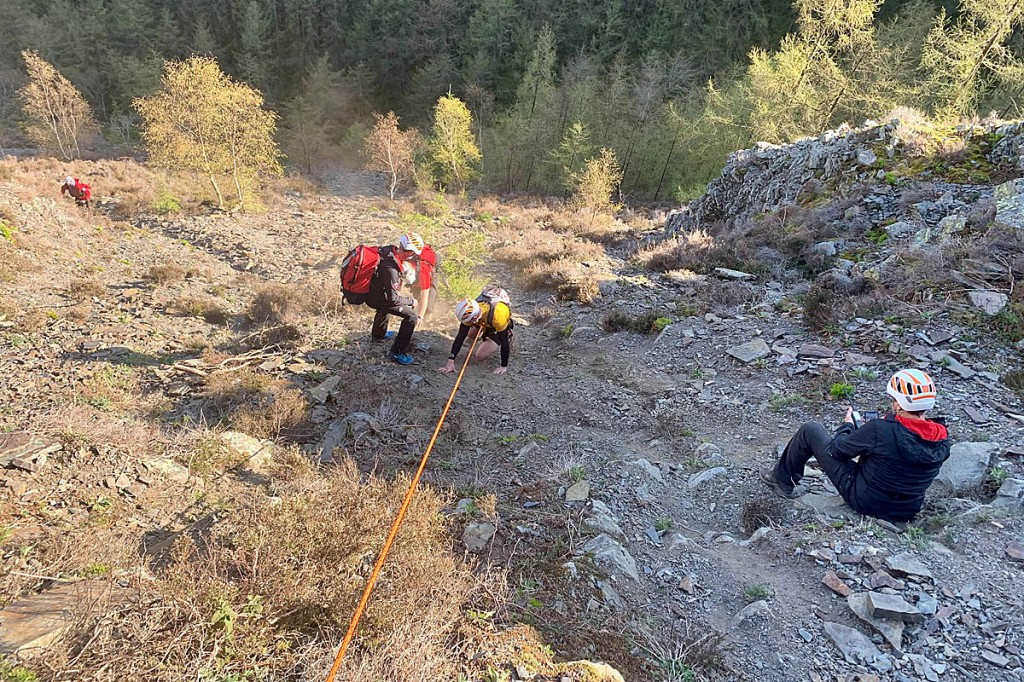 The rescue scene on Barf. Photo: Keswick MRT