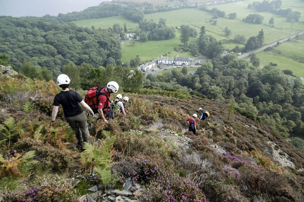 Keswick team members in action during the rescue. Photo: Keswick MRT