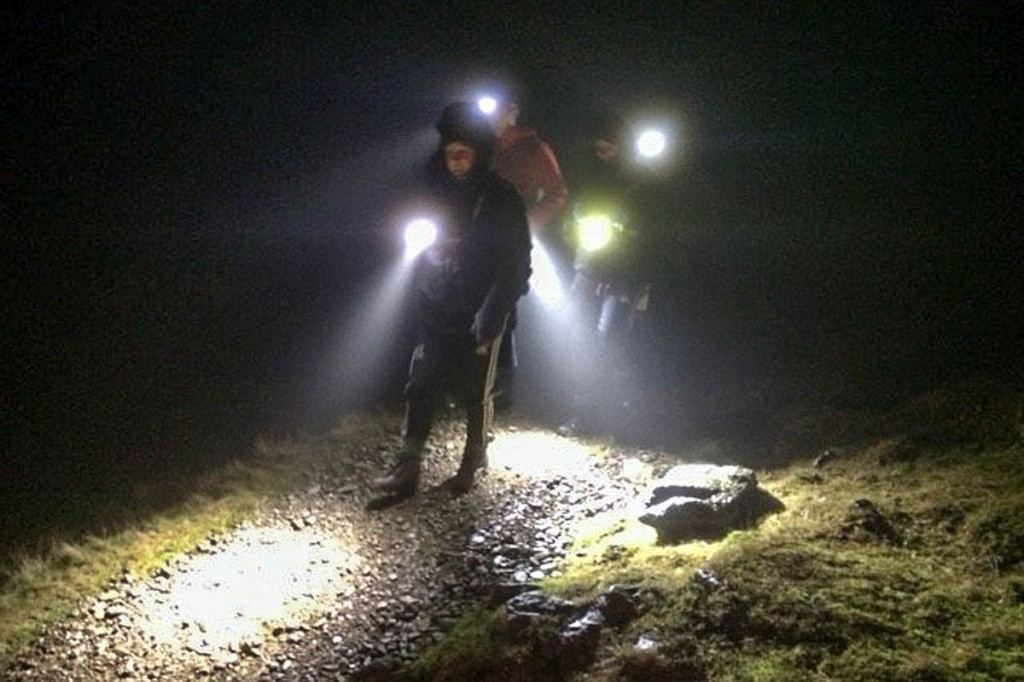 Rescuers during the incident on Birk Side. Photo: Keswick MRT