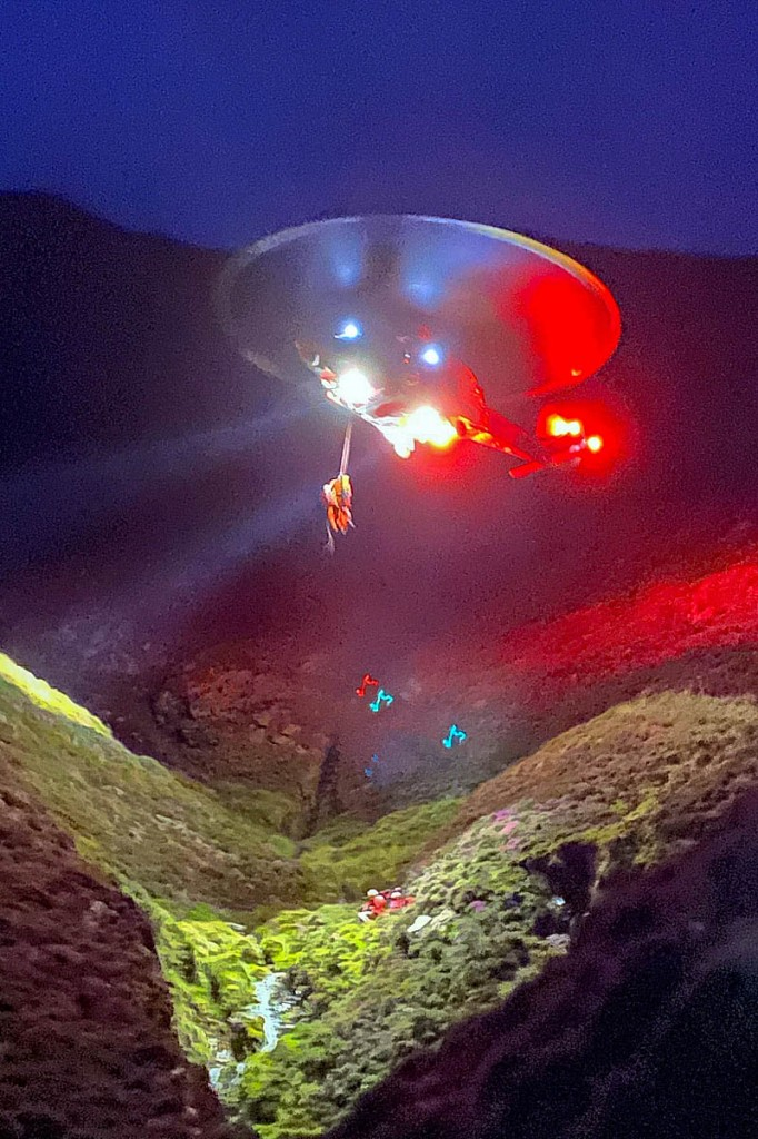 The rescue scene on Blencathra. Photo: Keswick MRT