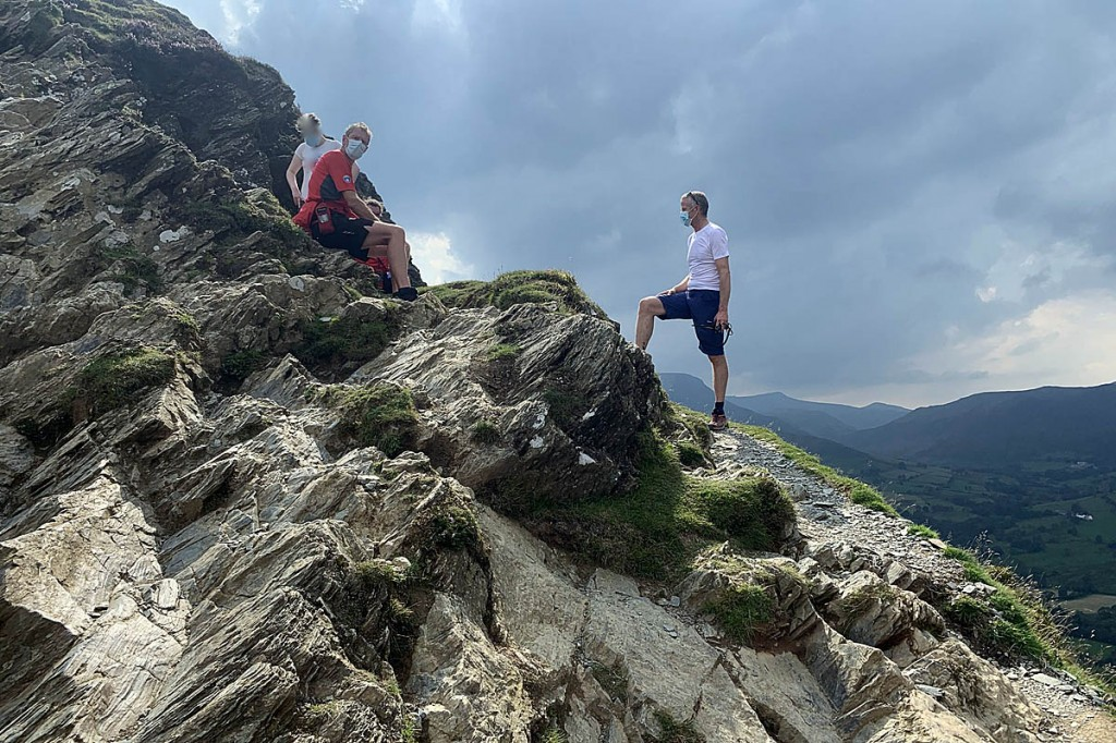 Rescuers at the scene of the incident on Cat Bells. Photo: Keswick MRT