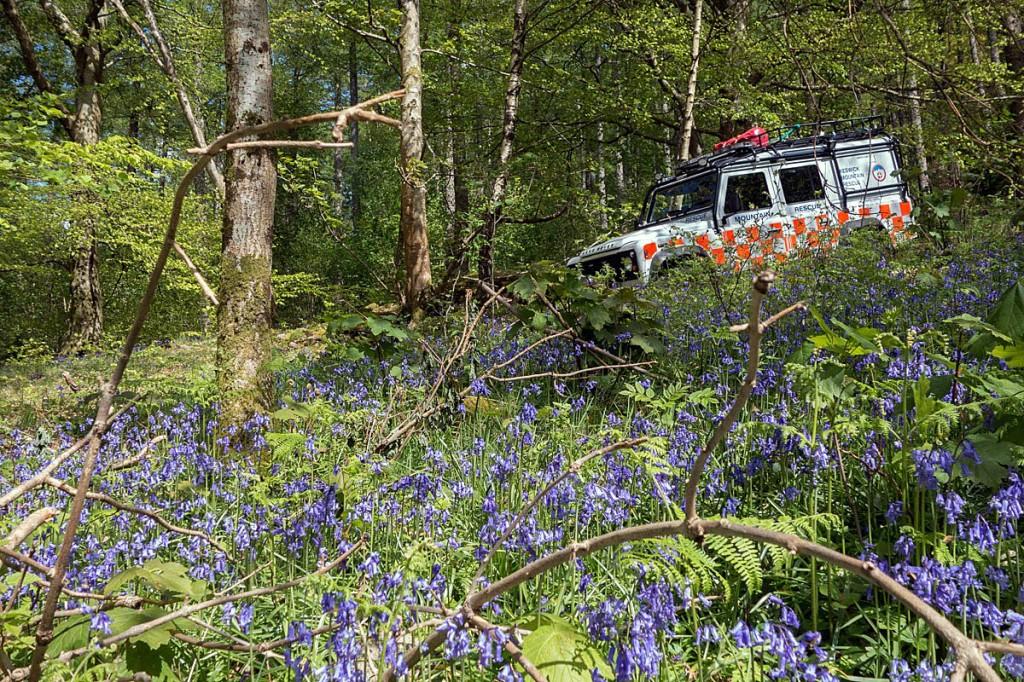 A rescue team vehicle at the scene. Photo: Keswick MRT