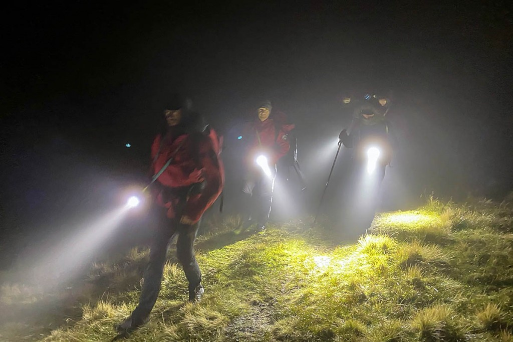 Rescuers in action during the incident. Photo: Keswick MRT