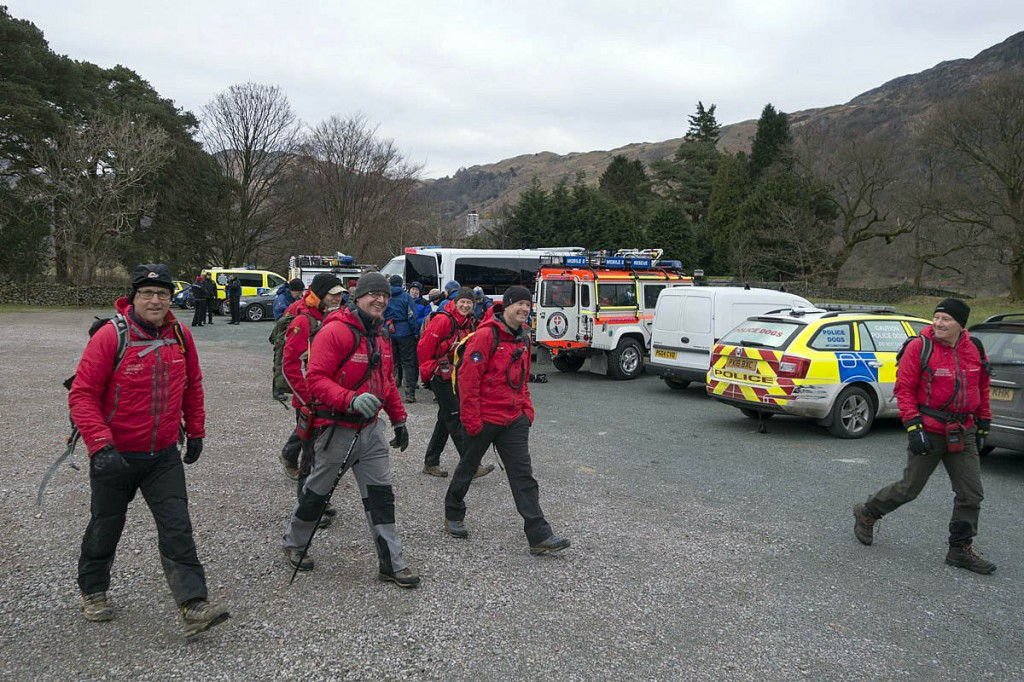 Rescuers took part in the search. Photo: Keswick MRT