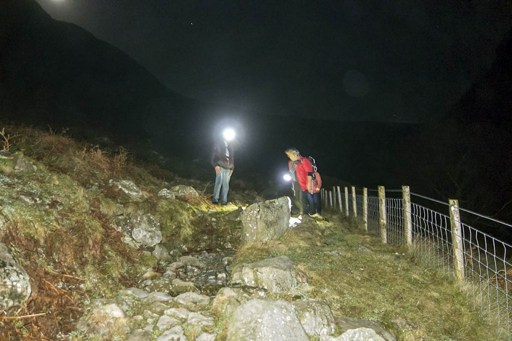 Rescuers found the walkers on the path near Greenup Edge. Photo: Keswick MRT