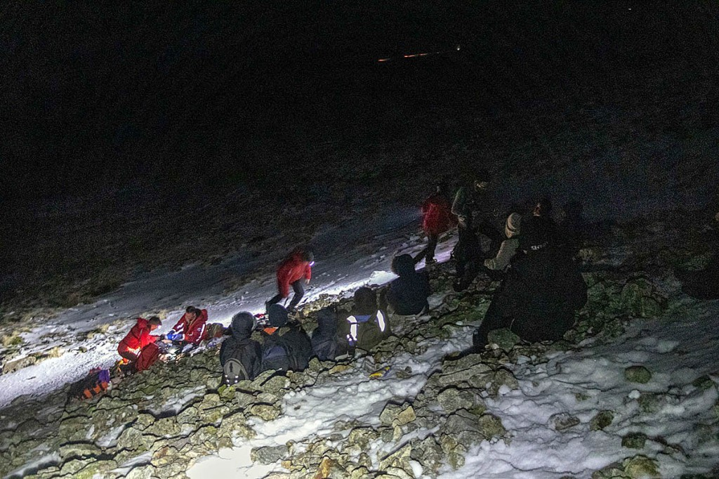 The group of children was found huddled on the scree. Photo: Keswick MRT