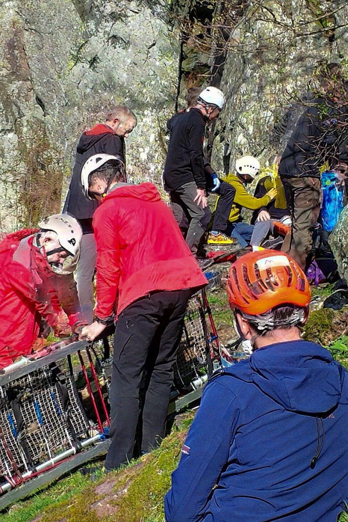 The rescue scene at Shepherds Crag. Photo: Keswick MRT