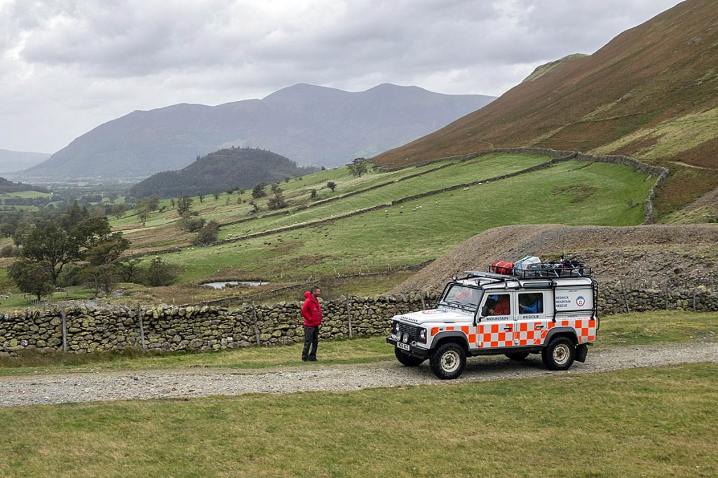 Both incidents happened near Little Town on the track running below Cat Bells. Photo: Keswick MRT