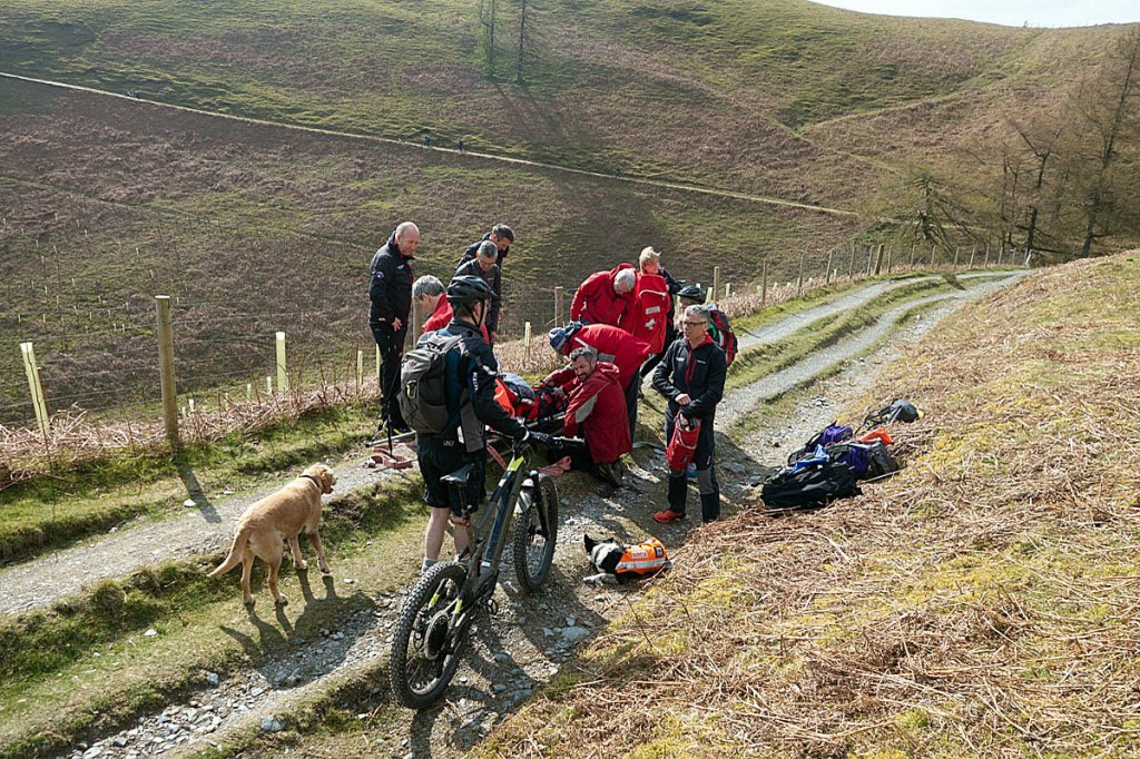 The scene of the mountain biking incident on Lonscale Fell. Photo: Keswick MRT