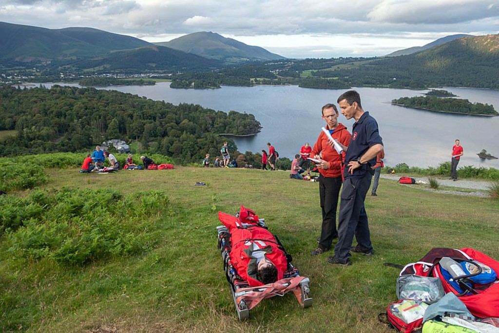 Scouts acted as casualties during the exercise. Photo: Keswick MRT